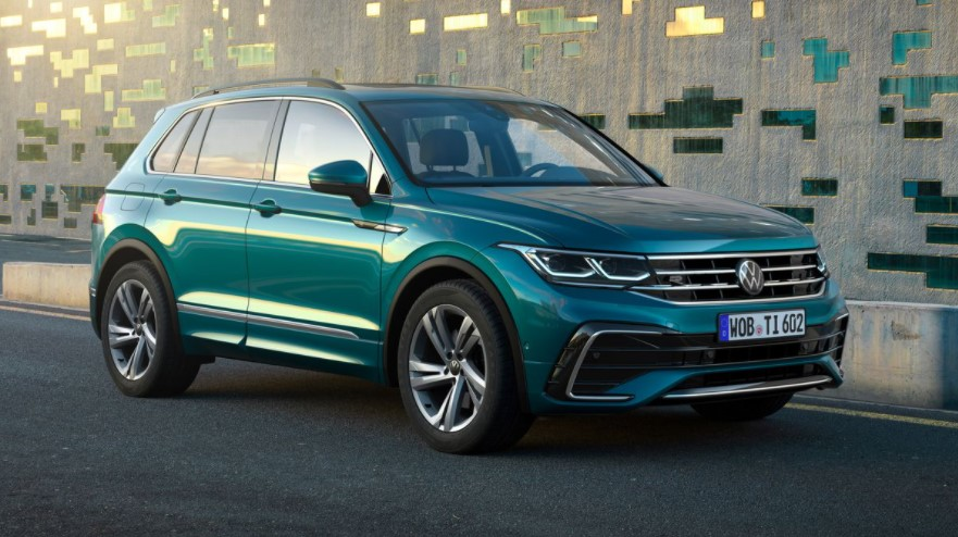 New design for 2022 Volkswagen Tiguan that will be available in fall 2021